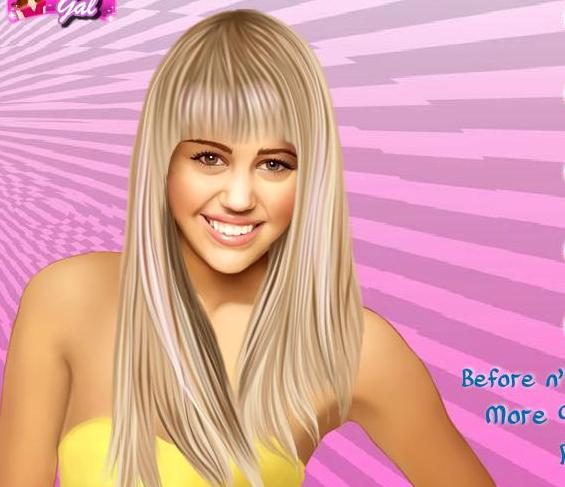 the game miley cyrus celebrity makeover
